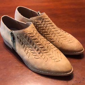 Mi.im Leather Booties Tan Size 6.5 Like New